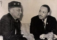 Martin Luthur King and the leader of the nation of islam