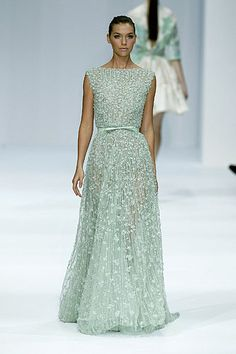 Jessica Biel should be in this beaded mint Ellie Saab gown. I think it'd look beautiful with her skin tone and dark hair.