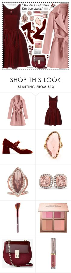 """RIP Azzedine Alaïa!"" by hennie-henne ❤ liked on Polyvore featuring Alaïa, Prada, Mark Broumand, Jennifer Lopez, Allurez, Sephora Collection, Express, Urban Decay, L'Oréal Paris and Carolee"