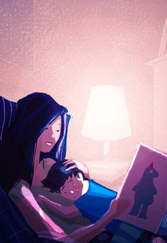 Pascal Campion「When Mommy reads me a story」 Mommy And Son, Mother And Child, Character Illustration, Illustration Art, Wal Art, Pascal Campion, Illustrations, American Artists, Beautiful Images
