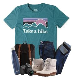 """""""OOTD : Let's Take a Hike. . . ."""" by meinersk45195 ❤ liked on Polyvore featuring Life is good, Acne Studios, Herschel Supply Co., Sperry, S'well, Nikon and boulderjunction"""