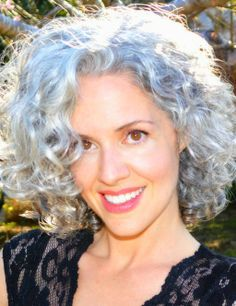 curly gray hair styles - Google Search