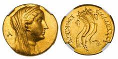 Coin of Ptolemaic Queen Arsinoe II of Egypt, d. 270 BCE