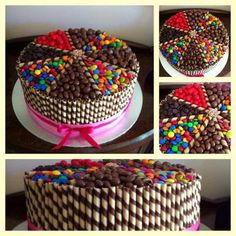Lolly Cake this is what em wants for her cake on sunday LOL! Torta Candy, Candy Cakes, Cupcake Cakes, Chocolate Box Cake, Lolly Cake, Novelty Cakes, Cute Cakes, Celebration Cakes, Cake Cookies