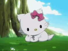Chat Hello Kitty, Cat Gif, Art Sketches, Iphone Wallpaper, Illustration Art, Animation, Cute, Anime, Fictional Characters