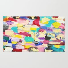 Oil Paint Texture Rug by Katie Tavares. Worldwide shipping available at Society6.com. Just one of millions of high quality products available.