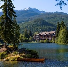 Nita Lake Lodge - Whistler, BC, Canada On the shores on Nita Lake and beside the Rocky Mountaineer train stop, the boutique Nita Lake Lodge offers the only lakeside accommodation in Whistler/Blackcomb. Complimentary use of canoes, kayaks, paddleboards, bicycles & fishing rods. Kids, big and small, love the S'mores cookout on the patio. Fine dining at Aura restaurant; many of the menu items are grown on the rooftop garden. You are only 5 mins by complimentary hotel shuttle to Whistler Village