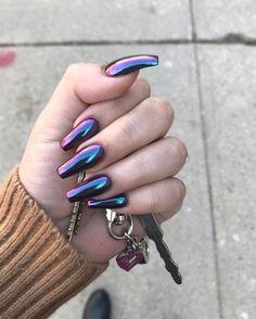 Mauve Nails, Metallic Nails, Red Nails, Hair And Nails, Acrylic Nails, Burgendy Nails, Oxblood Nails, Magenta Nails, Coffen Nails