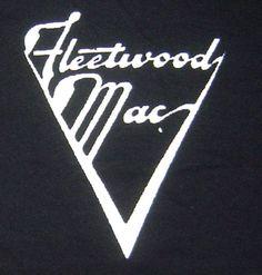 S-2Xl Fleetwood Mac band logo retro styled screen printed t-shirt Black -IN STOCK fast ship
