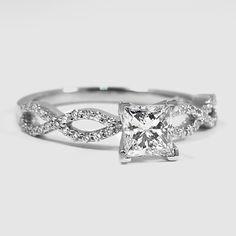 Platinum Infinity Diamond Ring