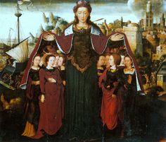 Santa Úrsula y sus compañeras, de Ambrosius Benson, en la Colección Masaveu