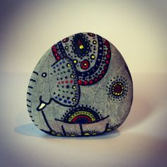 Painted & upcycled pebble