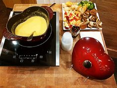 Celebrate Valentine's Day with Fondue in a Staub Heart Shaped Cocotte!