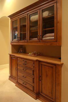 Built-in closet buffet - makes me wish I had a closet to transform