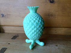 Antique Portieux Vallerysthal Pineapple Opaline Glass Green Jadite Candy Trinket Covered Jar Rare 1890s by TheTravelingTwins on Etsy https://www.etsy.com/listing/480998052/antique-portieux-vallerysthal-pineapple