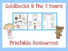 Goldilocks and the Three Bears Printables