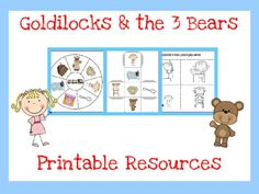 Goldilocks and the Three Bears Printables   # Pinterest++ for iPad #