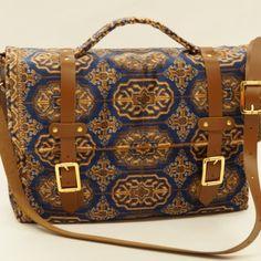 Carpet Bag, Messenger Bag, Satchel, Range, Blue, Fashion, Moda, Cookers, Stove