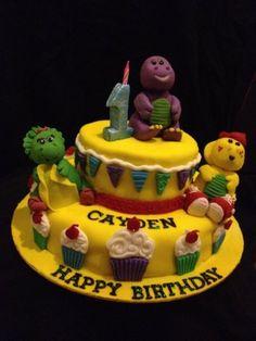 Barney & Friends  Cake by emilylek