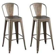 "Carlisle 29"" Backed Barstool Steel (set of 2) - Ace Bayou. Color: Distressed Metal $119.99 @ Target as of 4/29/16"