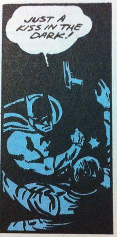 Just a kiss in the dark!    vintage comic #batman