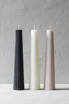 Our fluted beeswax candles are pillar shaped and available in three different colors. Hand poured from pure North American beeswax. Home Candles, Diy Candles, Pillar Candles, Design Candles, Candle Art, Candle Lanterns, Candle Decorations, Candle Maker, Candle Molds
