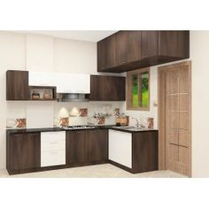 Get The Best L Shaped Modular Kitchen Designs. We Offer The Best L Shaped Kitchen Cabinets Designed By Expert Designers In Bangalore At The Affordable Prices. L Shaped Kitchen, Kitchen Cabinet Design, Kitchen Design Open, Online Kitchen Design, Interior Design Kitchen, Kitchen Modular, Kitchen Layout, Modern Kitchen Furniture, Kitchen Design