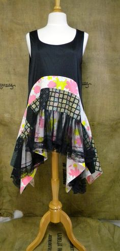www.facebook.com/chicshackconsignmentfurnishings Etsy: auntieschicshack pink black yellow white revival boho shirt shabby chic hippie bohemian junk gypsy style mori girl lagenlook cowgirl country girl chic free people style anthropologie inspired coachella music festival shirt romantic tunic dress patchwork beach antique lace floral ren fair plus modest resort earthtones woodland nymph lake hankie hem hi low butterfly vintage retro fabrics black lace