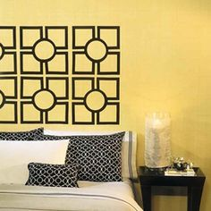 How To Create a Headboard Using Trellis Wall Decals | RoomMates