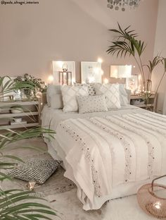 boho Schlafzimmer Tropical Home Room Ideas Bedroom, Living Room Bedroom, Home Bedroom, Modern Bedroom, Interior Design Living Room, Contemporary Bedroom, Bed Room, Bedroom Furniture, Bedroom Green