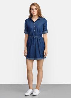 Платье-рубашка из денима за 2499р.- от OSTIN