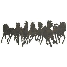 for my idea for a wall hanging for maacah: spray paint these black horses onto a white piece of fabric, with the paint splattering at the bottom to look like paint. Maybe work?