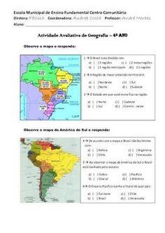 atividades regioes brasileiras 5 ano - Pesquisa Google