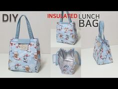 DIY Insulated lunch bag/Picnic bag tutorial/보온보냉 도시락가방 만들기/[jsdaily] - YouTube Insulated Lunch Bags, Reusable Tote Bags, Wallet Sewing Pattern, Sew Wallet, Hat Patterns To Sew, Sweet Bags, Picnic Bag, Sewing Tutorials, Bag Making
