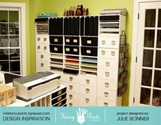 #papercraft #crafting supply and scrap supplies storage and #organization