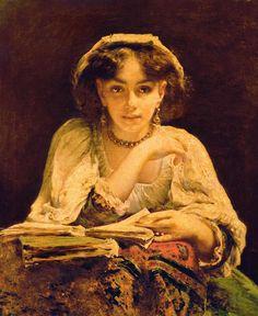 John Ballantyne (1815-1897), Painter, A Pensive Moment, Oil on canvas