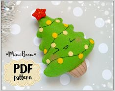 Christmas tree felt pattern Christmas patterns felt Christmas tree pattern PDF sewing Christmas ornaments pattern Adwent calendar pattern