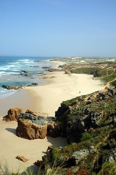 Mmmmm, I haven't been here. The beach at Malhão, Alentejo, Portugal Visit Portugal, Spain And Portugal, Portugal Travel, Places Around The World, Travel Around The World, Around The Worlds, Algarve, Places To Travel, Places To See