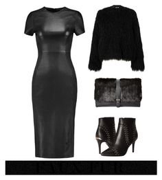 """Leather & Fur"" by im-karla-with-a-k ❤ liked on Polyvore featuring Iris & Ink, Samsøe & Samsøe, Calvin Klein and Sam Edelman"
