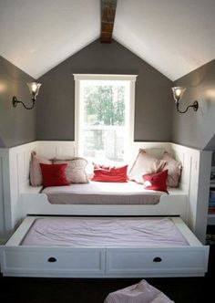 reading nook and dormer windows