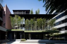 Paradise in the Sky: Yutaka Kawahara's Tokyo Temple is Surrounded by a Forest of Bamboo and Crystal - Architizer Temple Architecture, Religious Architecture, Green Architecture, Architecture Design, Sustainable Architecture, Landscape Architecture, Japanese Temple, Take Me To Church, Design Strategy
