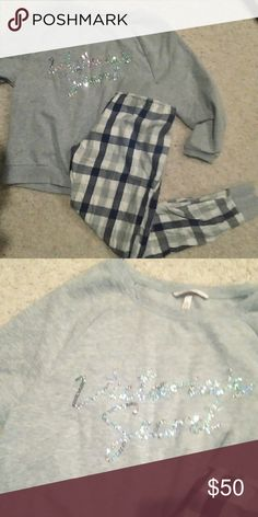 Vs pajamas Worn and washed once...perfect condition!! PINK Victoria's Secret Intimates & Sleepwear Pajamas