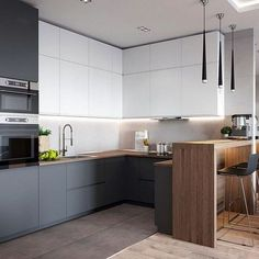 If you are looking for Minimalist Kitchen Design Ideas, You come to the right place. Below are the Minimalist Kitchen Design Ideas. Minimalist Kitchen Design, Kitchen Inspirations, Kitchen Cabinet Design, Home Decor Kitchen, Kitchen Style, Cabin Kitchen Decor, Kitchen Room Design, Kitchen Design Small, Kitchen Remodel