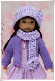"OOAK Purple Outfit Set for Tonner Effner 13"" Little Darling by Heavenly Marie 