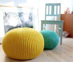Home-Dzine - Crochet or knit a pouf