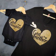 Godmother Goddaughter T-shirt Package by HelloHandpressed