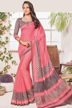 Stylish & Designer Pink Art Silk Saree With Art Silk Blouse - DMV11523
