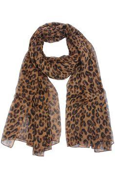 ROMWE | Leopard Chiffon Scarf, The Latest Street Fashion  http://www.planetgoldilocks.com/clothing.htm #scarves #fashion