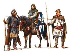Soldiers of the late Roman army. Anglo Saxon History, Ancient History, Medieval, Ancient Armor, Roman Legion, Empire Romain, Classical Antiquity, Roman Soldiers, Roman History