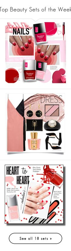 """Top Beauty Sets of the Week"" by polyvore ❤ liked on Polyvore featuring beauty, Deborah Lippmann, Butter London, Eve Snow, Christian Dior, Mulberry, Gianvito Rossi, Elizabeth Arden, Acqua di Parma and Palm Beach Jewelry"